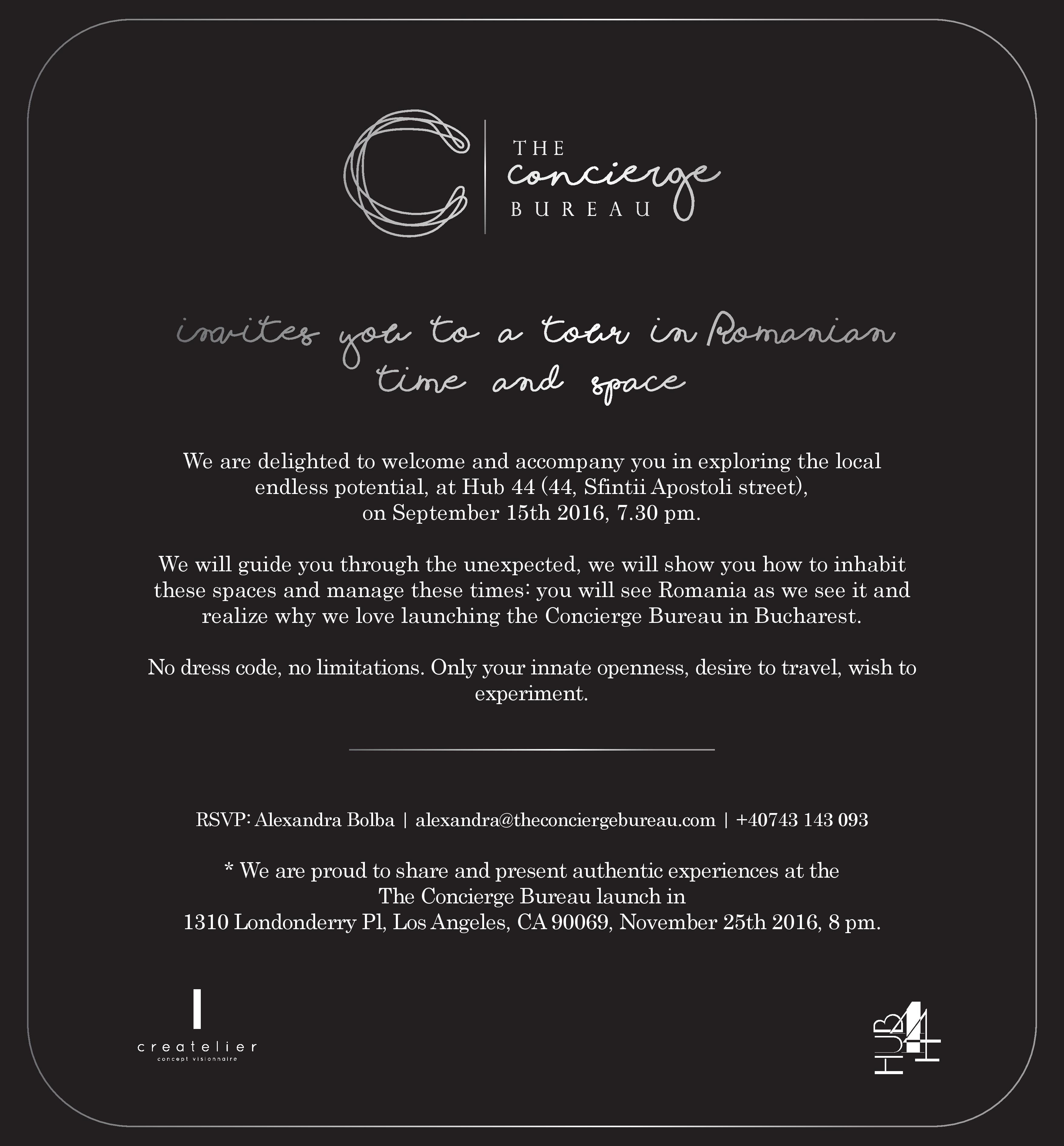 Official launch of The Concierge Bureau